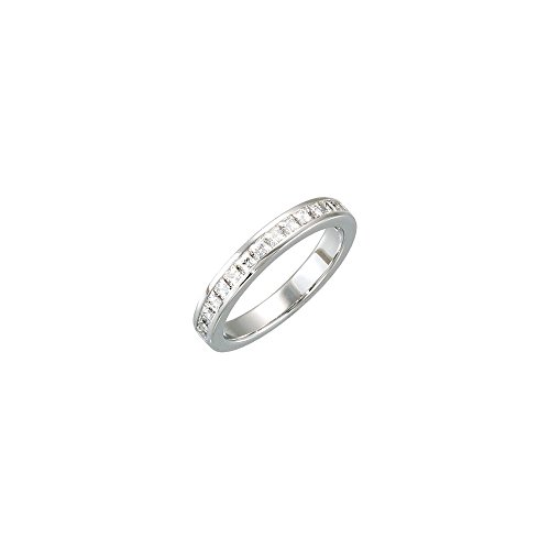 - 14K White Gold 3/4 CTW Diamond Matching Band to 7x5mm Emerald Semi-set Engagement Ring