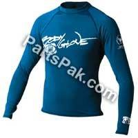 Basic JUNIOR Long Sleeve Lycra Rashguard Shirt 10 Royal by Body Glove