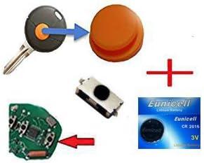 Für Smart 450 Funkschlüssel Schlüssel 1x Tastenfeld Gummi 1x Mikroschalter Smd Taster 1x Batterie Auto