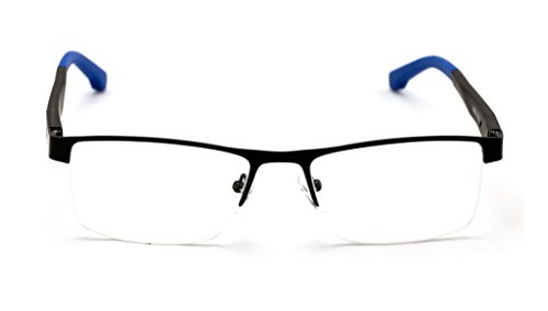 65e3d1cc0d V.W.E. Men Half Rimless Rectangular Non-prescription Glasses Frame Clear  Lens Eyeglasses TR90