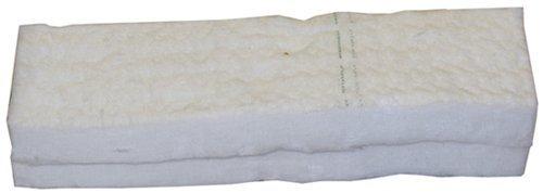 Spons van keramische wol, voor bio-ethanol, voor veilig gebruik in haarden, 30 cm x 10 cm x 1,3 cm, 2 stuks