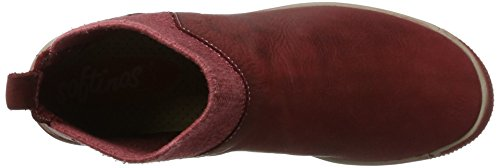 Softinos Imi412sof Washed - Botas plisadas Mujer Rojo (Scarlet)