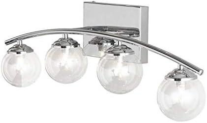 Dainolite V822-4W-PC 4-Light Polished Chrome Bath Vanity