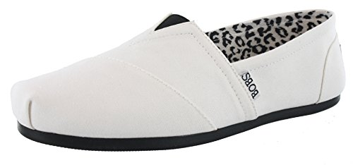 Skechers Women's BOBS Plush Peace and Love,White/Black,US 7 M ()