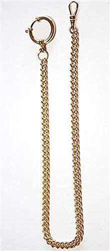 New 14K gold filled pocket watch chain with a large spring ring