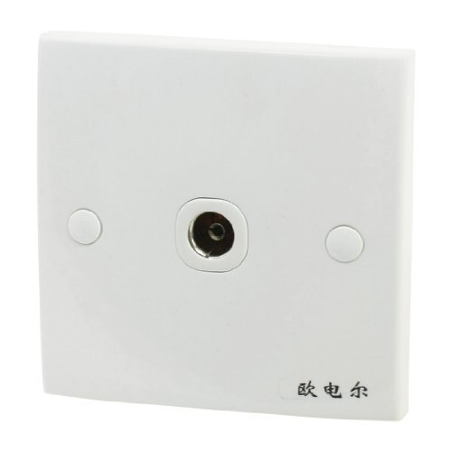 Water & Wood Square PAL Female Jack TV Aerial Antenna One Outlet Socket Wall Plate -
