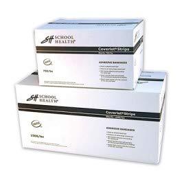 School Health Brand Bulk Fabric Bandages - 1'' x 3'' (Loose Bulk) 1500/Box by SH School Health