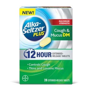 Alka Seltzer Plus Max Strength Cough and Mucus, 28 Count