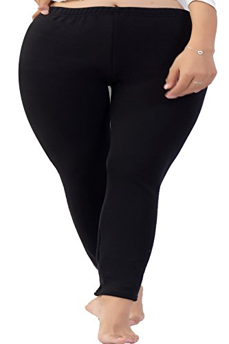 Century Star Women Plus Size Thermal Thick Tights Basic Leggings Comfort Pants Black US X Plus-US 4X Plus(Tag Size (Hooters Outfit For Halloween)