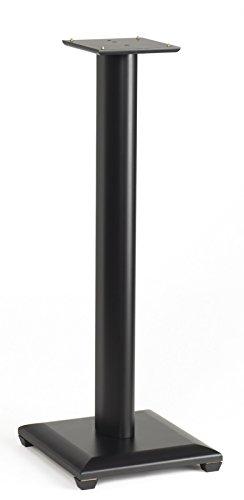 Wood Series Bookshelf Speaker Stands - Sanus Systems NF 30b Natural Series Speaker Stands (Black)