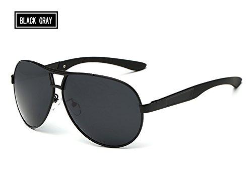 gray Hombres Masculinos de de Gris Gris para Gafas Sol black los para la de Pesca Gafas Accesorios Sunglasses Gafas Hombres Sol anteojos TL polarizadas guiar P5qSx8w