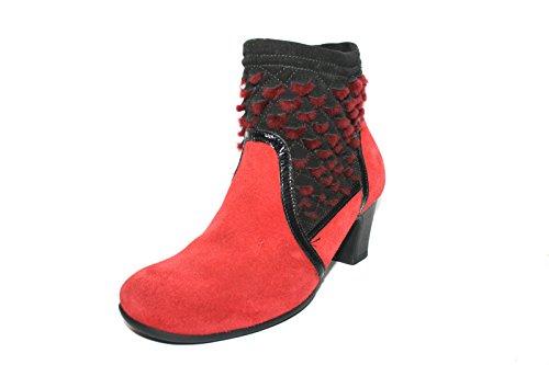 Think Nei - Botas clásicas de cuero mujer Rot (rosso/kombi 72)