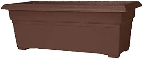 Novelty 26273 Patio Planter, 12 x 27-Inch, Brown