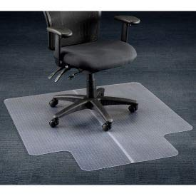 - Aleco 120227 Office Chair Mat for Carpet Straight Edge44; 45 x 53 in. with 25 x 12 in. Lip