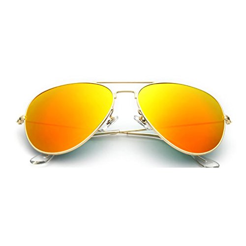 NUBAO Glass Sunglasses Men's Eyes Lens Mirror Driving Driver Sunglasses Men Driving Glasses Beach Break Mandatory (Color : Orange) (Was Sonnenbrille)