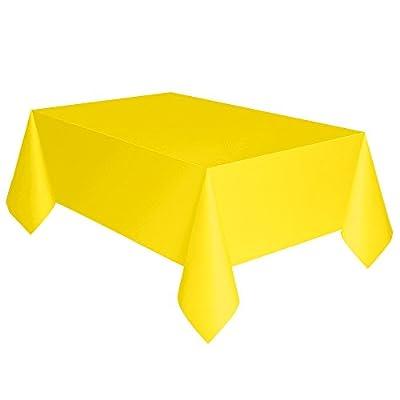 Neon Yellow Plastic Tablecloth, 108