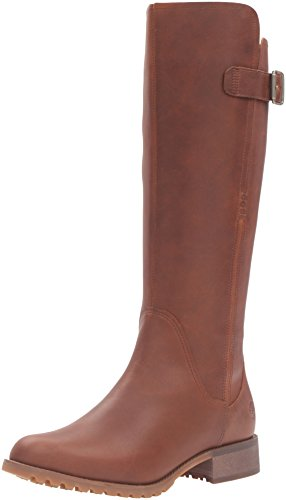 Timberland Women's Banfield Tall Medium Shaft Waterproof Riding Boot, Wheat Forty, 8 M US (High Hill Work Boots)