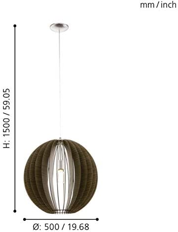 Eglo 94636–Lámpara de techo, plata