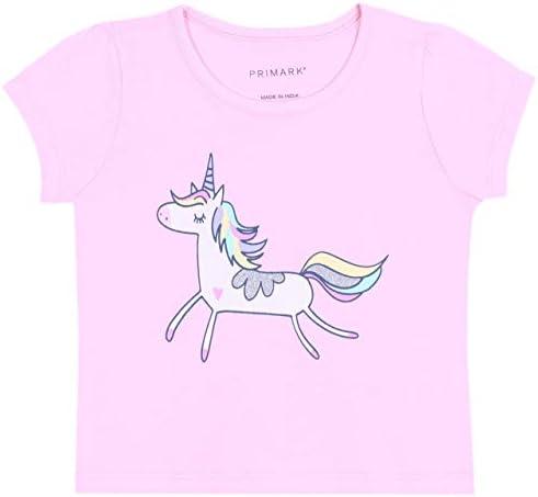 2X Pijama Rosa y Morado con Estampado de Unicornios 6-7 años ...