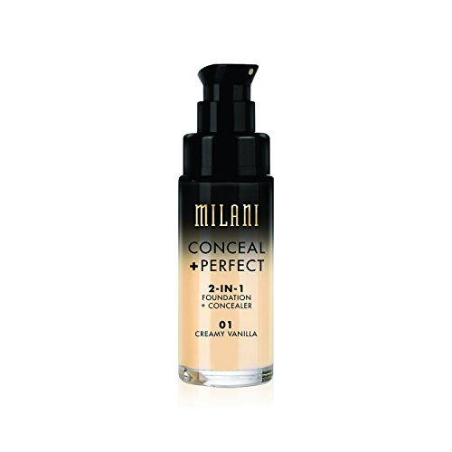 Milani Conceal + Perfect 2-in-1 Foundation Concealer, Vanilla, 1.0 Fluid Ounce