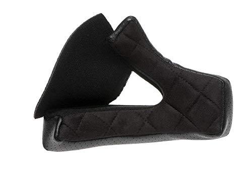 Bell Moto-3 Cheek PU Suede Cheek Pads (Black, 20mm) - Replacement Pads Parts Cheek