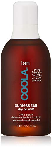 COOLA Organic Sunless Tan Body Dry Oil | Moisturizing | Antioxidant Enriched | Gradual Tan | Pina Colada