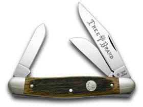 BOKER TREE BRAND Beer Barrel Wood Stockman Pocket Knife Knives
