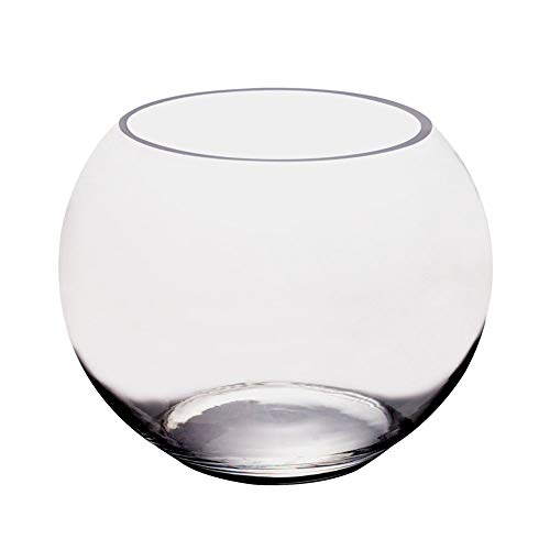 OTENGD 2PCS Aquariu -Round Transparent Fish Tank Necessary for Fish Farming at Home-Can Decorate and Clearly See The Fish Only Raise Some Smaller Fish