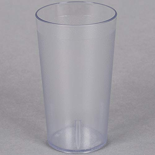 MM Foodservice Plastic Tumbler, Restaurant Style Pebbled Tumblers, Break Resistant Stackable Cups, Set of 6 (16-Ounce, CLEAR) (Stackable Tumbler Plastic Pebbled)