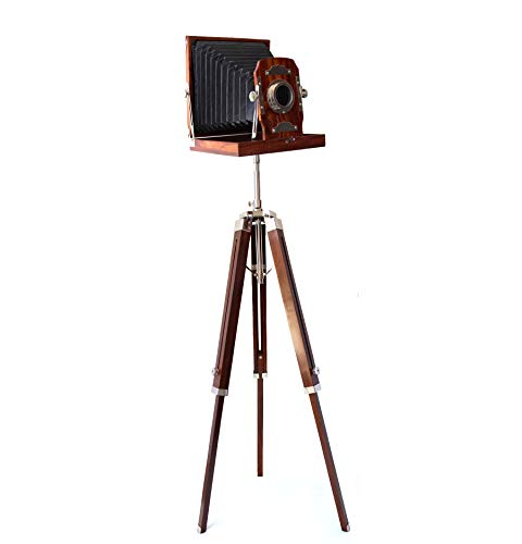 "Collectibles Buy Vintage Royal Wooden Film Slide Old Retro Camera Home Decorative Gift 12""x12""x13"" Brown"