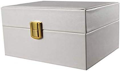 Ymorith Orologio organizzatore Box, Premium PU in Pelle Braccialetto Gioielli Custodia Regalo, griglia Singola, Bianco