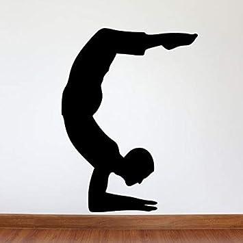 yaonuli Yoga Temple Vinyl Tatuajes de Pared Yoga Gym Decoración de ...
