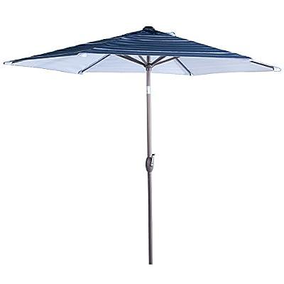 Abba Patio 9 Ft Market Outdoor Aluminum Patio Umbrella with Tilt & Crank, 100% Polyester Fabric