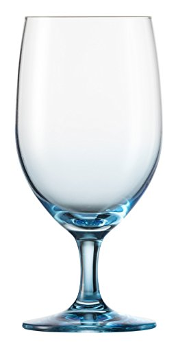 n Crystal Glass Forte Touch  Barware Collection Water Glass Goblets, Set of 6, 15.3 oz, Blue (Blue All Purpose Goblet)
