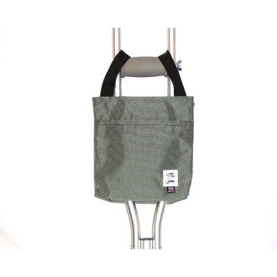 Handi Pockets 1a4ch Storage Accessory Crutch, Nylon, Charcoal Gray by Handi Pockets