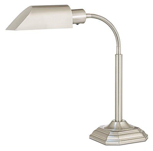 20 Watt Alexander Table Lamp in- Brushed Nickel Ott Lite Nickel Table Lamp
