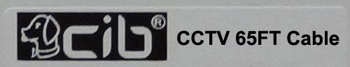 CIB 65 Feet BNC Video Cable w/ Power Wire for CCTV Security Cameras and 1080P/720P Camera SDI,TVI, CVI and AHD