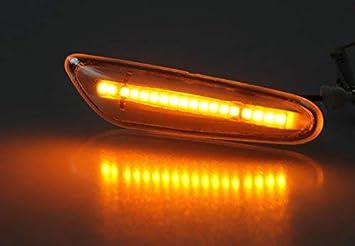 Schwarz Smoke Hochwertige LED Seitenblinker passgenau f/ür Ihr Fahrzeug in Chrom klar oder Schwarz Smoke mit Dichtungslippe f/ür eine Aufwertende Front.