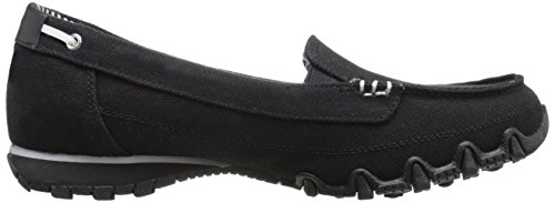 Bikers a collo Scarpe Skechers basso Pedestrian Donna Canvas Nero Black Padq4w6
