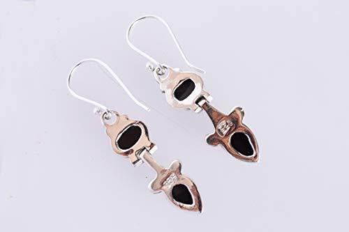 Handmade Ravishing Impressions Black Onyx Gemstone Earring 925 Solid Sterling Silver Girls Earring FSJ-3194 Womens Earring Gifts Item