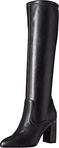 Franco Sarto Women's Katherine Knee High Boot, Black Stretch Leather, 9 M US