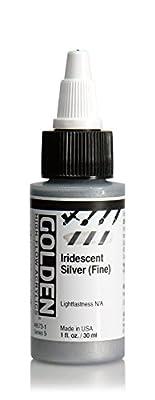 Golden High Flow Arcylic Paint, 1 Ounce, Iridescent Silver Fine
