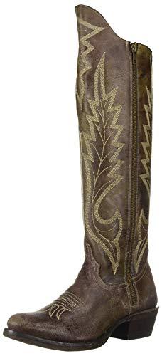 (Stetson Women's Cam Western Boot, Green, 8 Medium US)