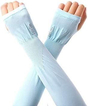 Soporte de codo, Protección UV de refrigeración mangas del brazo, largo de seda del hielo protector solar mangas for hombres y mujeres for Running Ciclismo Pesca Deportes y tiempo libre