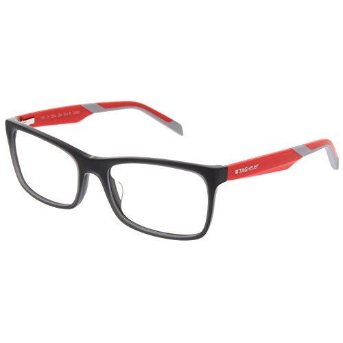 Tag Heuer B Urban 0554 Eyeglasses Red/Grey Temple 56mm (Red/Grey, 56)