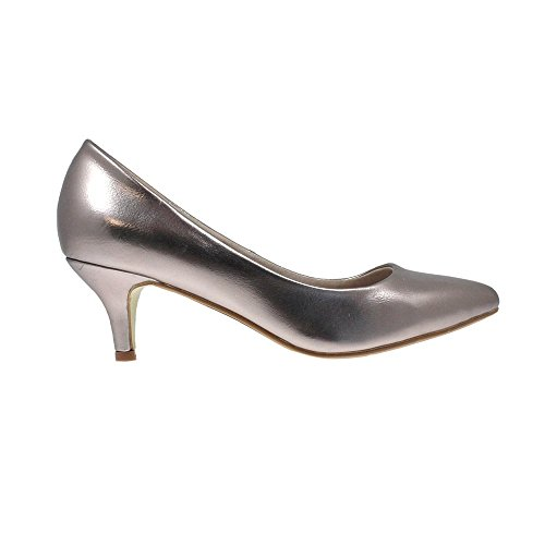 Court Pewter Lunar Black Heel Pewter Kitten Parker and Low and Navy in Beige 8 Pink Heel rZtZFYq