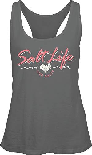 Salt Life Women's Heart Life Tank Top (M, Frost Grey)