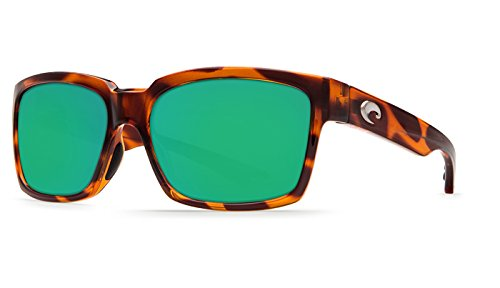 Costa Del Mar Playa Polarized Sunglasses Honey Tortoise Frame Green Mirror