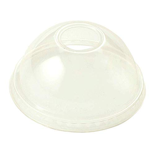 World Centric CPL-CS-12D 100% Compostable Ingeo Dome Lids, for 9Q - 24 oz. Cups, Clear (Pack of 1000)