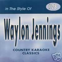 WAYLON JENNINGS Country Karaoke Classics CDG Music CD